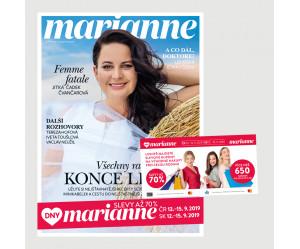 Aktuální vydání Marianne 9/2019 + kupónová knížka Dny Marianne(pouze pro ČR)