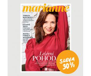 Roční tištěné předplatné Marianne se slevou 30%