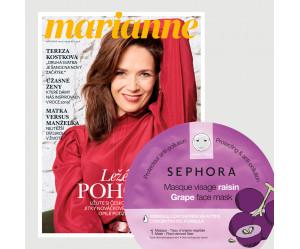 Aktuální vydání Marianne 11/2019 + pleťová maska Sephora (pouze pro ČR)