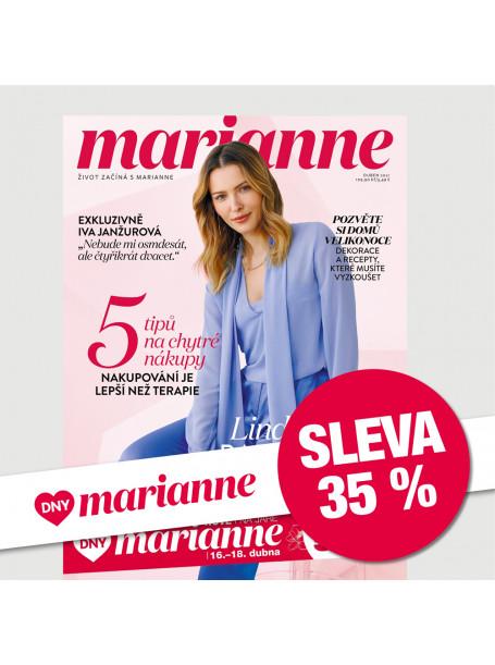 Roční tištěné předplatné Marianne se slevou 35 %