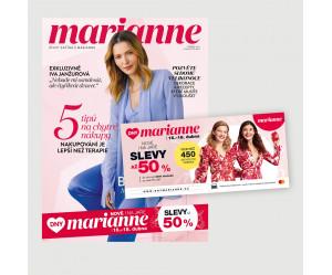 Vydání Marianne 4/2021 + kuponová knížka Dny Marianne (POŠTOVNÉ ZDARMA, pouze pro ČR)