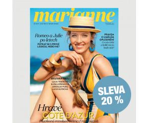 Čtvrtletní tištěné předplatné Marianne se slevou 20 %