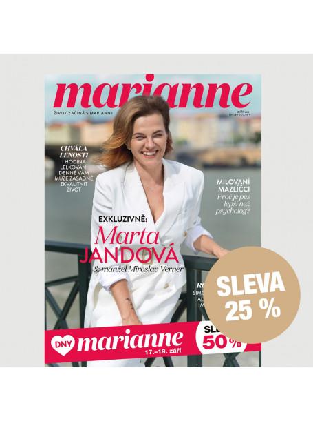 Půlroční tištěné předplatné Marianne se slevou 25 %